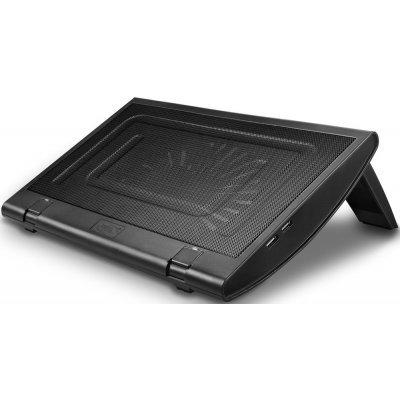 Подставка для ноутбука DeepCool Windwheel FS черный (Windwheel FS BLACK)Подставки для ноутбука DeepCool<br>Теплоотводящая подставка под ноутбук DeepCool Windwheel FS BLACK (до15.6, вентилятор 200мм, черный,<br>