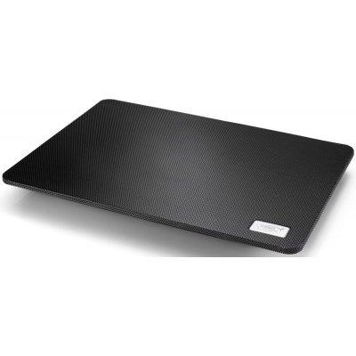 Подставка для ноутбука DeepCool N1 черный (N1 BLACK)Подставки для ноутбука DeepCool<br>Теплоотводящая подставка под ноутбук DeepCool N1 BLACK (до 15,6, cупертонкий 2,6см, 180мм вентилято<br>