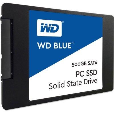 Жесткий диск ПК Western Digital 500GB WDS500G1B0A (WDS500G1B0A)Жесткие  диски ПК Western Digital<br>SSD жесткий диск SATA2.5 500GB TLC BLUE WDS500G1B0A WDC<br>