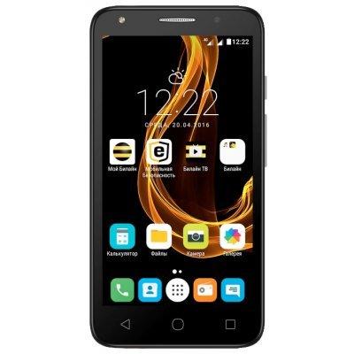 Смартфон Alcatel Pixi 4 5045D серый (5045D-2FALRU1) чехол флип кейс alcatel flipcover для alcatel pixi 4 5045 белый [g5045 3balfcg]