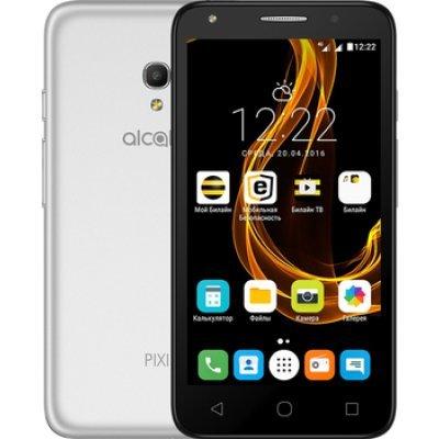 Смартфон Alcatel Pixi 4 5045D серебристый (5045D-2CALRU1) чехол флип кейс alcatel flipcover для alcatel pixi 4 5045 белый [g5045 3balfcg]