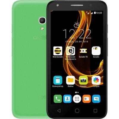 Смартфон Alcatel Pixi 4 5045D зеленый (5045D-2MALRU1) чехол флип кейс alcatel flipcover для alcatel pixi 4 5045 белый [g5045 3balfcg]