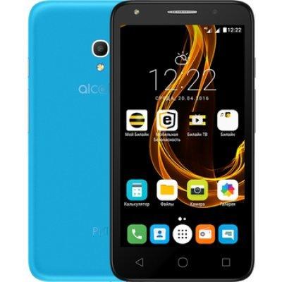 Смартфон Alcatel Pixi 4 5045D голубой (5045D-2NALRU1) чехол флип кейс alcatel flipcover для alcatel pixi 4 5045 белый [g5045 3balfcg]