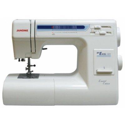 Швейная машина Janome MyExcel 18 W (JANOME MyExcel 18 W)Швейные машины Janome<br>швейная машина<br>электромеханическое управление<br>горизонтальный челнок<br>количество операций: 19<br>регулировка давления лапки на ткань<br>автоматическая обработка петли<br>обметочная строчка, потайная строчка, эластичная строчка, эластичная потайная строчка<br>рукавная платформа<br>