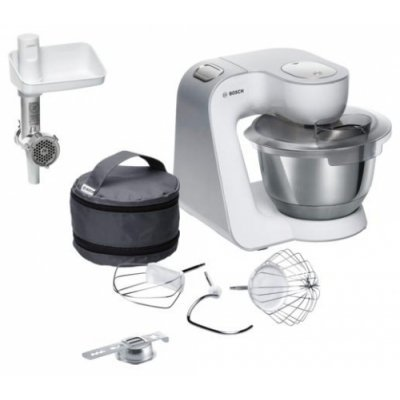 Кухонный комбайн Bosch MUM 58225 (MUM 58225)Кухонные комбайны Bosch<br>комбайн<br>для большого количества продуктов<br>мясорубка<br>корпус из пластика<br>