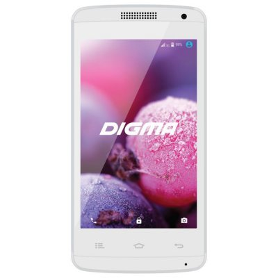 Смартфон Digma Linx A401 3G 4Gb белый (LT4018PG)Смартфоны Digma<br>Смартфон Digma A401 3G Linx 4Gb белый моноблок 3G 2Sim 4 480x800 Android 5.1 2Mpix WiFi BT GSM900/1800 GSM1900 TouchSc MP3<br>