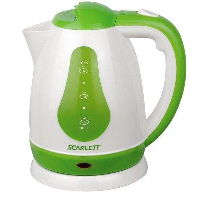 Электрический чайник Scarlett SC-EK18P30 белый/зеленый (SC-EK18P30)