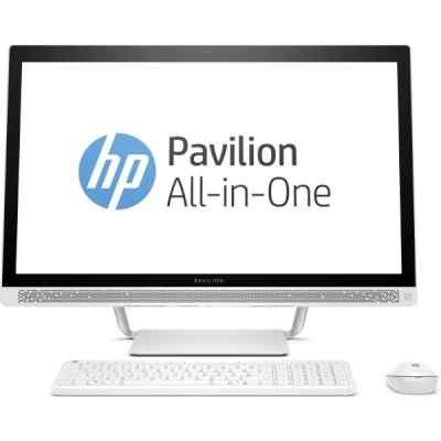 Моноблок HP Pavilion 24-b236ur (1AW64EA) (1AW64EA)Моноблоки HP<br>24   IPS FHD LED Non-touch,Core i3-7100T,4GB DDR4 (1X4GB),1TB,Intel HD Graphics,DVDRW,usb kbd/mouse,Blizzard White,Win10<br>