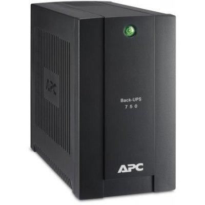 Источник бесперебойного питания APC Back-UPS 750VA/415W (BC750-RS) (BC750-RS)Источники бесперебойного питания APC<br>APC Back-UPS 750VA/415W, 230V, 4 Schuko outlets (1 Surge &amp;amp; 3 batt.), USB, user repl. batt., 2 year warranty<br>