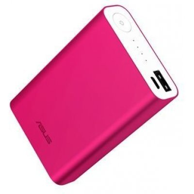 Внешний аккумулятор для портативных устройств ASUS ZenPower ABTU010 розовый (90AC00S0-BBT018)Внешние аккумуляторы для портативных устройств ASUS<br>Мобильный аккумулятор Asus ZenPower ABTU010 Li-Ion 10050mAh 2.4A розовый 1xUSB<br>