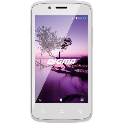 Смартфон Digma LINX A420 3G белый (LS4019PG)Смартфоны Digma<br>Смартфон Digma A420 3G LINX 4Gb белый, 3G 2Sim 4.2 Android 6.0 802.11bgn BT GPS GSM900/1800 TouchSc max64Gb<br>