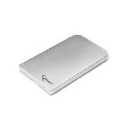 Корпус для жесткого диска Gembird EE2-U2S-41 серебристый (EE2-U2S-41-S)Корпуса для жестких дисков Gembird<br>Внешний корпус 2.5 Gembird EE2-U2S-41, серебро, USB 2.0, SATA, металл<br>