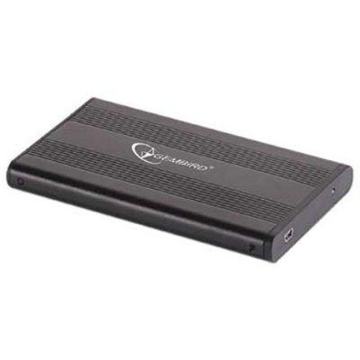 Корпус для жесткого диска Gembird EE2-U2S-5 черный (EE2-U2S-5)Корпуса для жестких дисков Gembird<br>Внешний корпус 2.5 Gembird EE2-U2S-5, черный, USB 2.0, SATA<br>