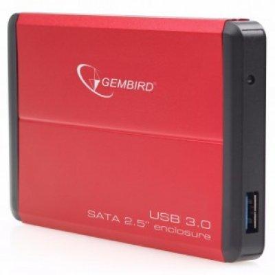 Корпус для жесткого диска Gembird EE2-U3S-2 красный (EE2-U3S-2-R)Корпуса для жестких дисков Gembird<br>Внешний корпус 2.5 Gembird EE2-U3S-2, красный, USB 3.0, SATA<br>