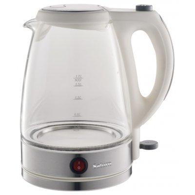Электрический чайник Saturn ST-EK 8421 (ST-EK 8421 White)Электрические чайники Saturn <br>ST-EK 8421 White Чайник 1.7л Стекло LED подсветка Saturn<br>