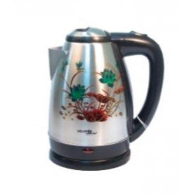 Электрический чайник Viconte VC-3257 (VC 3257)Электрические чайники Viconte <br>VC-3257 Чайник 2л,Разноцветные цветы,термо-рисунок,2000Вт, нерж., черный Viconte<br>