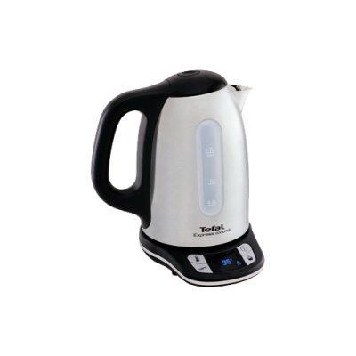 Электрический чайник Tefal KI240D (KI240D30)Электрические чайники Tefal<br>чайник<br>объем 1.7 л<br>мощность 2400 Вт<br>закрытая спираль<br>установка на подставку в любом положении<br>стальной корпус<br>выбор температуры нагрева воды<br>дисплей<br>индикация включения<br>