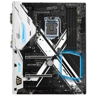 Материнская плата ПК ASRock Z270 EXTREME 4 (Z270 EXTREME4)Материнские платы ПК ASRock<br>материнская плата форм-фактора ATX<br>сокет LGA1151<br>чипсет Intel Z270<br>4 слота DDR4 DIMM, 2133-3866 МГц<br>поддержка SLI/CrossFireX<br>разъемы SATA: 6 Гбит/с - 8<br>