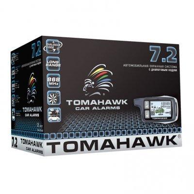Автосигнализация Tomahawk 7.2 (Tomahawk 7.2)Автосигнализации Tomahawk<br>ЖК-экран: Да<br>Количество кнопок: 5<br>Обратная связь: Да<br>Турботаймер: Да<br>Диалоговый код: Да<br>Дальность приёма: до 1300 м<br>Сирена: В комплекте<br>