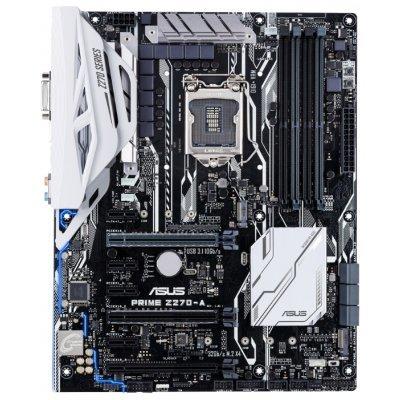 Материнская плата ПК ASUS PRIME Z270-A (PRIME Z270-A)Материнские платы ПК ASUS<br>материнская плата форм-фактора ATX<br>сокет LGA1151<br>чипсет Intel Z270<br>4 слота DDR4 DIMM, 2133-3866 МГц<br>поддержка SLI/CrossFireX<br>разъемы SATA: 6 Гбит/с - 6<br>