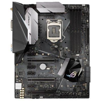 Материнская плата ПК ASUS STRIX Z270E GAMING (STRIX Z270E GAMING)Материнские платы ПК ASUS<br>материнская плата форм-фактора ATX<br>сокет LGA1151<br>чипсет Intel Z270<br>4 слота DDR4 DIMM, 2133-3866 МГц<br>поддержка SLI/CrossFireX<br>разъемы SATA: 6 Гбит/с - 6<br>Wi-Fi 802.11ac, Bluetooth<br>