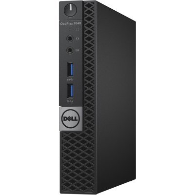 Настольный ПК Dell Optiplex 7040 Micro (7040-0476) (7040-0476)Настольные ПК Dell<br>ПК Dell Optiplex 7040 Micro i5 6500T (2.5)/8Gb/SSD256Gb/HDG530/Windows 10 Professional 64/GbitEth/WiFi/BT/65W/черный/серебристый<br>