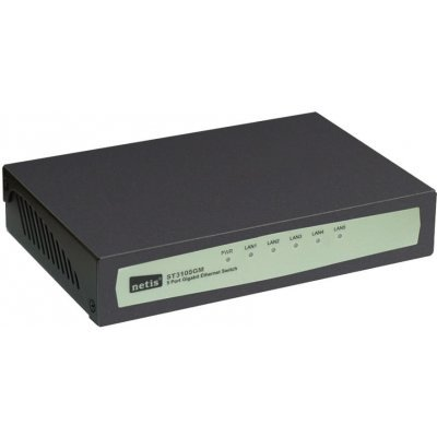 Коммутатор Netis ST3105GM (ST3105GM)Коммутаторы Netis<br>Коммутатор 5PORT 10/100/1000M ST3105GM NETIS<br>