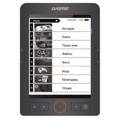 Электронная книга Digma R651 серый (R651G)Электронные книги Digma<br>Электронная книга Digma R651 6 E-Ink 800x600 600MHz 128Mb/4Gb/microSDHC/подсветка дисплея серый<br>