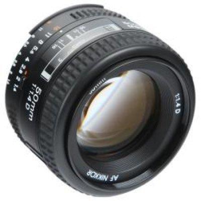 Объектив Nikkor AF 50/1.4 D (JAA011DB)Объективы для фотоаппарата Nikon<br>стандартный объектив с постоянным ФР<br>крепление Nikon F, без встроенного мотора<br>автоматическая фокусировка<br>минимальное расстояние фокусировки 0.45 м<br>размеры (DхL): 64.5x42.5 мм<br>вес: 230 г<br>