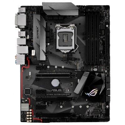 Материнская плата ПК ASUS STRIX Z270H GAMING (STRIX Z270H GAMING)Материнские платы ПК ASUS<br>материнская плата форм-фактора ATX<br>сокет LGA1151<br>чипсет Intel Z270<br>4 слота DDR4 DIMM, 2133-3866 МГц<br>поддержка SLI/CrossFireX<br>разъемы SATA: 6 Гбит/с - 6<br>