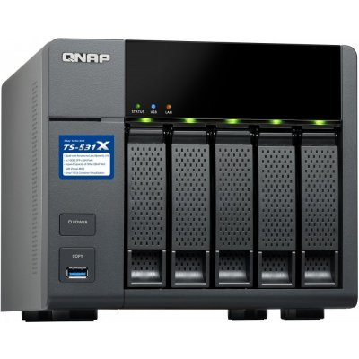 Рэковое сетевое хранилище (Rack NAS) Qnap TS-531X-8G (TS-531X-8G)Рэковые сетевые хранилища (Rack NAS) Qnap<br>СХД настольное исполнение 5BAY NO HDD USB3 TS-531X-8G QNAP<br>