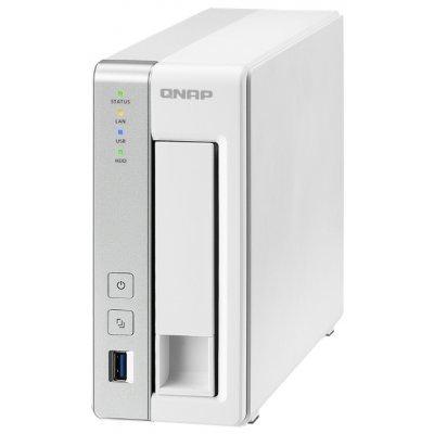 Рэковое сетевое хранилище (Rack NAS) Qnap TS-131P (TS-131P)Рэковые сетевые хранилища (Rack NAS) Qnap<br>СХД настольное исполнение 1BAY NO HDD USB3 TS-131P QNAP<br>