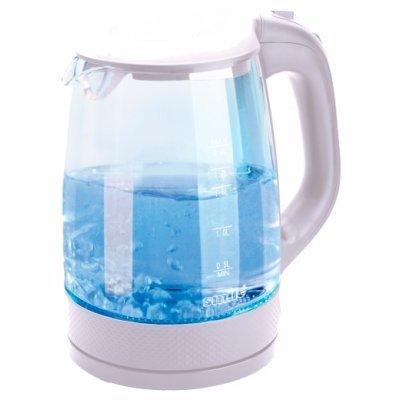 Электрический чайник Smile WK 5414 (WK 5414)Электрические чайники Smile <br>чайник<br>объем 2 л<br>мощность 2200 Вт<br>закрытая спираль<br>установка на подставку в любом положении<br>корпус из пластика и стекла<br>