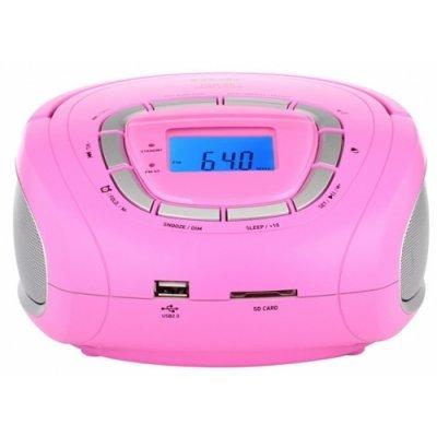 Аудиомагнитола BBK BS 05 розовый/серый (BS 05 (роз/серебро))