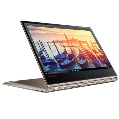 Ультрабук-трансформер Lenovo Yoga 910-13 (80VF00EQRK) (80VF00EQRK)Ультрабуки-трансформеры Lenovo<br>Yoga 910-13IKB, 13.9 FHD IPS TOUCH, i7-7500U, 12GB, 512GB SSD, Integrated, WiFi, BT, WebCam, 4 cell, Win 10 Pro, Gold<br>