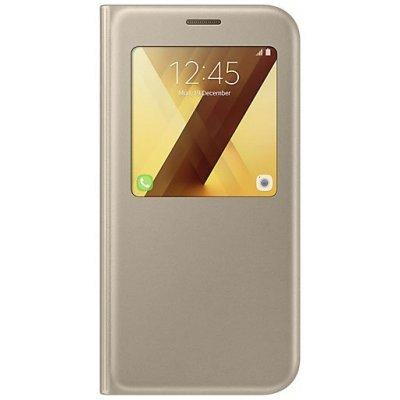 Чехол для смартфона Samsung Galaxy A7 (2017) SM-A720F золотистый (EF-CA720PFEGRU) (EF-CA720PFEGRU)Чехлы для смартфонов Samsung<br>Чехол (флип-кейс) Samsung для Samsung Galaxy A7 (2017) S View Standing Cover золотистый (EF-CA720PFEGRU)<br>