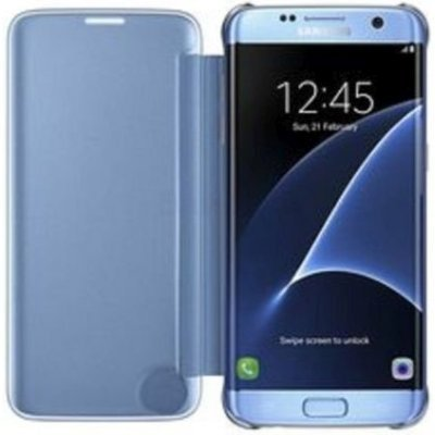 Чехол для смартфона Samsung Galaxy S7 edge синий (EF-ZG935CLEGRU) (EF-ZG935CLEGRU)Чехлы для смартфонов Samsung<br>Чехол (флип-кейс) Samsung для Samsung Galaxy S7 edge Clear View Cover синий (EF-ZG935CLEGRU)<br>