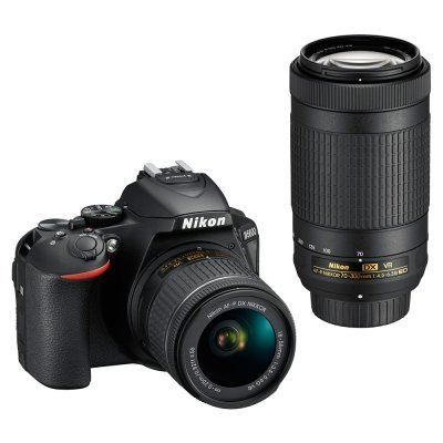 Цифровая фотокамера Nikon D5600 18-55 VR AF-P (VBA500K004) профессиональная цифровая slr камера nikon d3200 18 55mm vr