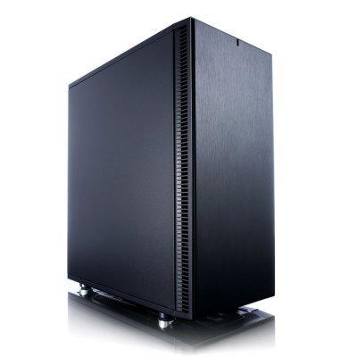 Корпус системного блока Fractal Design Define C черный без БП (FD-CA-DEF-C-BK)Корпуса системного блока Fractal Design<br>Корпус Fractal Design Define C черный без БП ATX 6x120mm 5x140mm 2xUSB3.0 audio bott PSU<br>