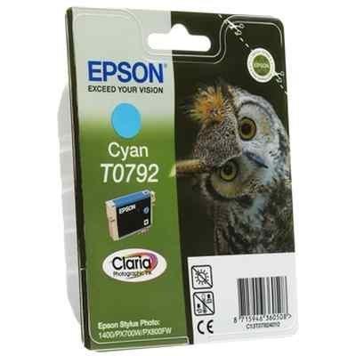 Картридж для струйных аппаратов Epson C13T07924010 голубой для Stylus Photo 1500W,A3 (C13T07924010) картридж epson t009402 для epson st photo 900 1270 1290 color 2 pack