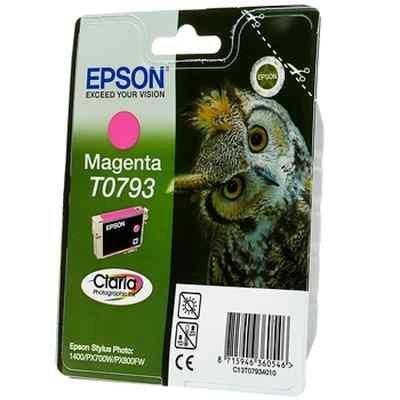 Картридж для струйных аппаратов Epson C13T07934010 пурпурный для Stylus Photo 1500W,A3 (C13T07934010) принтер струйный epson l312