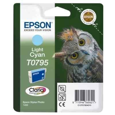 Картридж для струйных аппаратов Epson C13T07954010 светло-голубой для Stylus Photo 1500W,A3 (C13T07954010) принтер струйный epson l312