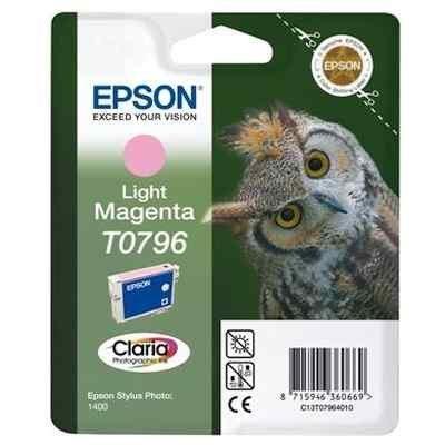 Картридж для струйных аппаратов Epson C13T07964010 светло-пурпурный для Stylus Photo 1500W,A3 (C13T07964010) принтер струйный epson l312