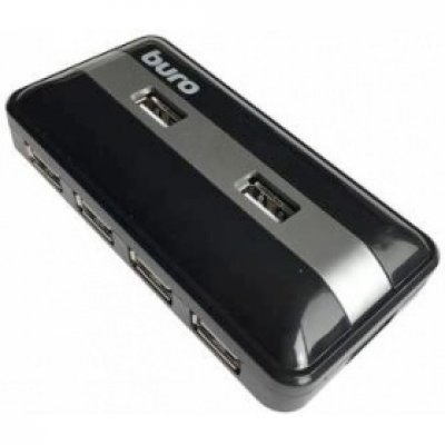 USB концентратор Buro BU-HUB7-U2.0 черный (BU-HUB7-U2.0), арт: 259618 -  USB концентраторы Buro