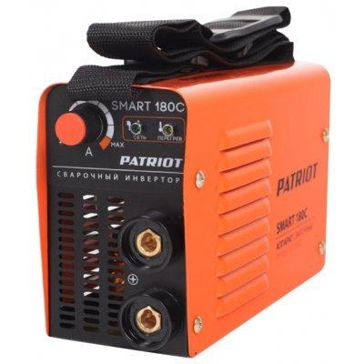 Сварочный аппарат Patriot SMART 180C MMA (605301836)Сварочные аппараты Patriot<br>сварочный инвертор<br>типы сварки: ручная дуговая (MMA)<br>макс. сварочный ток: 160 А (MMA)<br>мощность: 4.20 кВА / 3.70 кВт<br>диаметр электрода: 2-4 мм<br>антиприлипание<br>горячий старт<br>