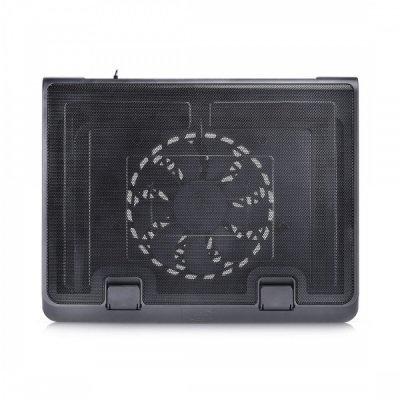 Подставка для ноутбука DeepCool N180 FS (N180 FS)Подставки для ноутбука DeepCool<br>Теплоотводящая подставка под ноутбук DeepCool N180 FS (до 17, вентилятор 180мм,  Metal Mesh Panel+P<br>