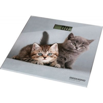 Весы Redmond RS-735 кошки рисунок (RS-735) какой фирмы напольные весы лучше купить