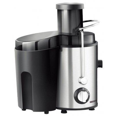 Соковыжималка Redmond RJ-M911 серебристый/черный (RJ-M911)Соковыжималки Redmond<br>центробежная соковыжималка<br>мощность 860 Вт<br>стакан для сока в комплекте<br>подача сока сразу в стакан<br>автоматический выброс мякоти<br>отсекатель пены сока<br>корпус из нержавеющей стали<br>возможность загрузки целых плодов<br>
