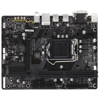 Материнская плата ПК Gigabyte GA-B250M-D2V (GA-B250M-D2V)Материнские платы ПК Gigabyte<br>материнская плата форм-фактора microATX<br>сокет LGA1151<br>чипсет Intel B250<br>2 слота DDR4 DIMM, 2133-2400 МГц<br>разъемы SATA: 6 Гбит/с - 6<br>