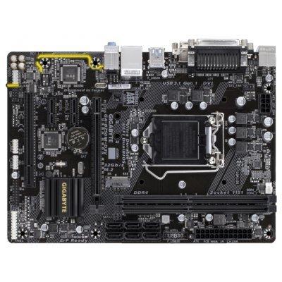 Материнская плата ПК Gigabyte GA-B250M-D3V (GA-B250M-D3V)Материнские платы ПК Gigabyte<br>материнская плата форм-фактора microATX<br>сокет LGA1151<br>чипсет Intel B250<br>2 слота DDR4 DIMM, 2133-2400 МГц<br>разъемы SATA: 6 Гбит/с - 6<br>